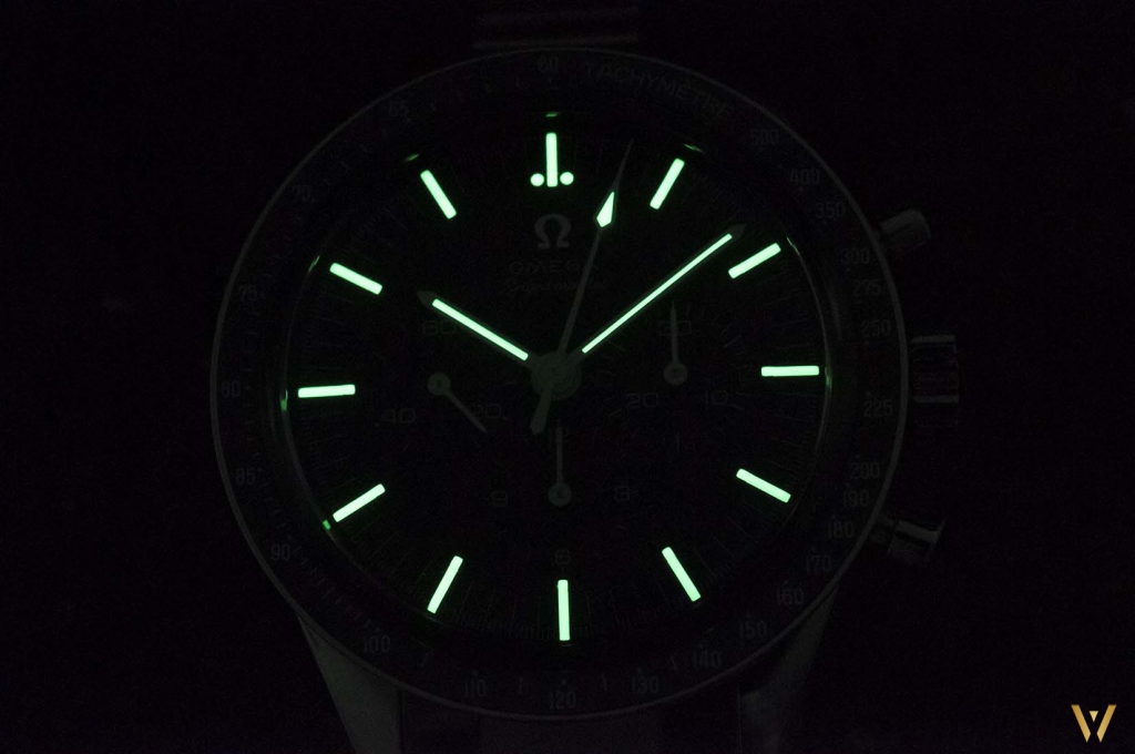 Omega Speedmaster Moonwatch Caliber 321 at night