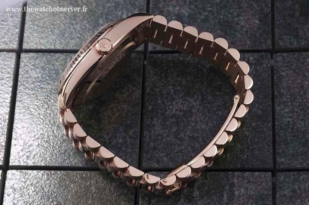 Bracelet Rolex President - Rolex Day-Date 40 Everose gold
