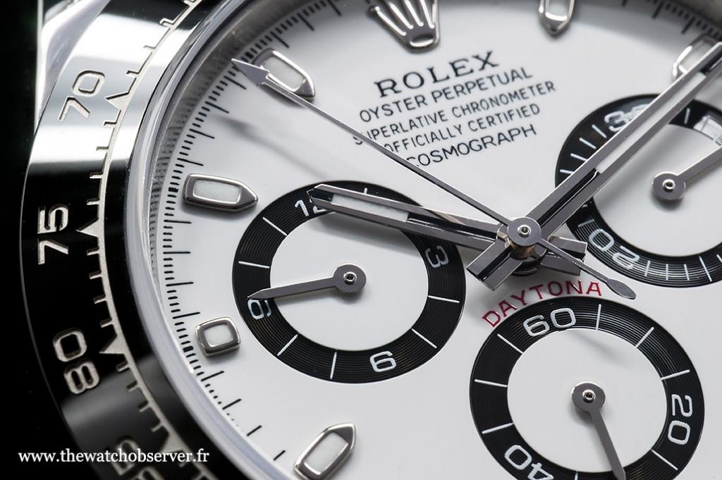 Detail #2 - dial of the Rolex Daytona 116500LN