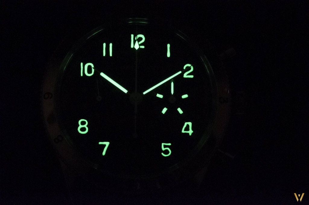 Night photo - Breitling AVI 765 1953 Re-Edition