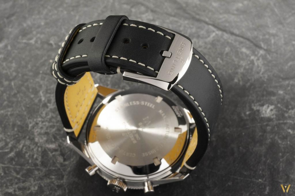A leather bracelet - Breitling AVI 765 1953 Re-Edition