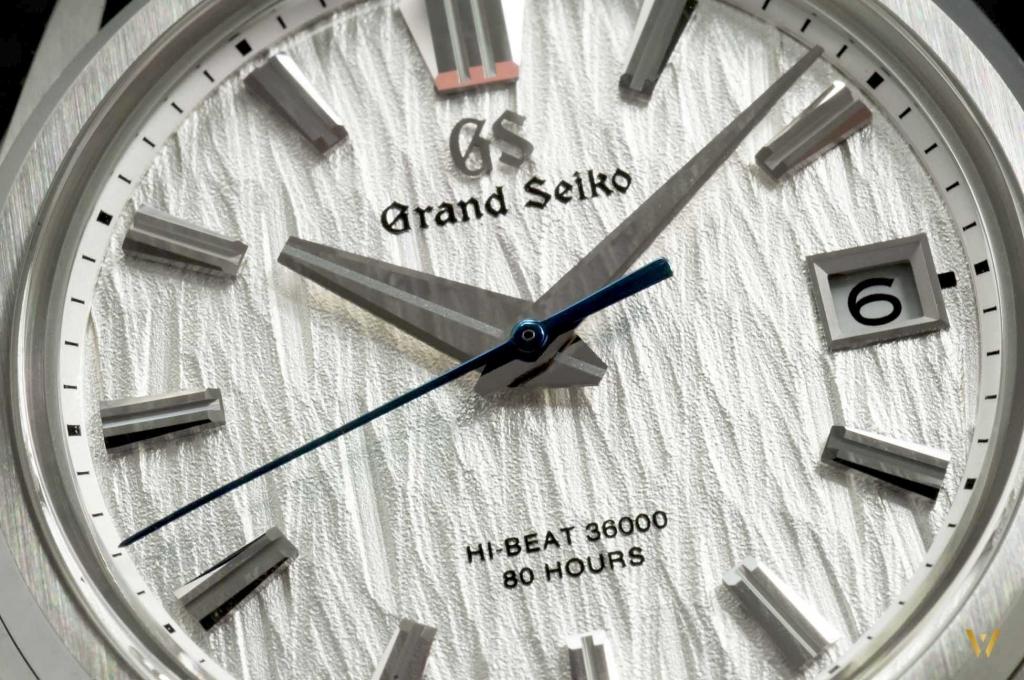Macro photo of the dial - Grand Seiko SLGH005