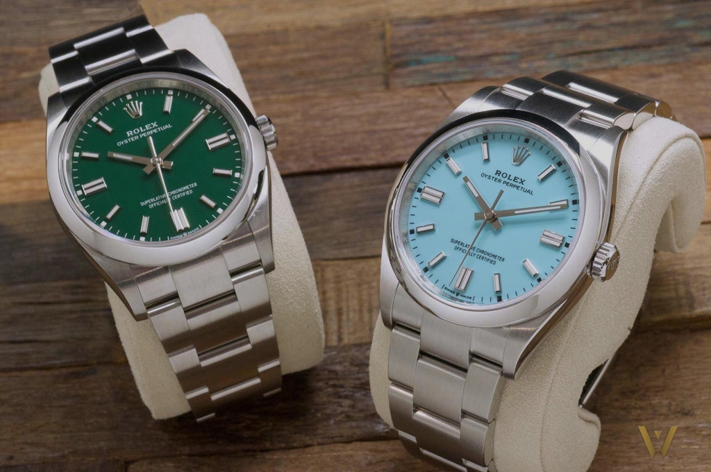 The new Rolex Oyster Perpetual green and turquoise dial