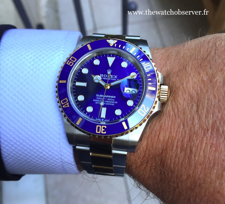 On the wrist: Rolex Submariner Date 41 steel and yellow gold
