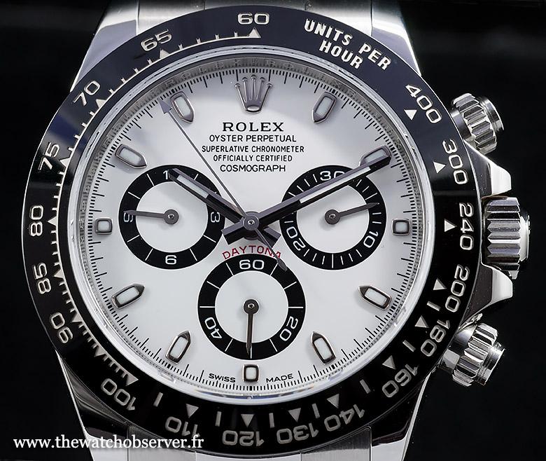 Rolex Cosmograph Daytona 116500LN white dial
