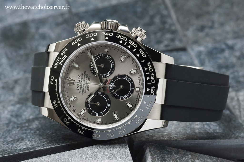 Rolex Daytona white gold 116519LN Oysterflex: full review