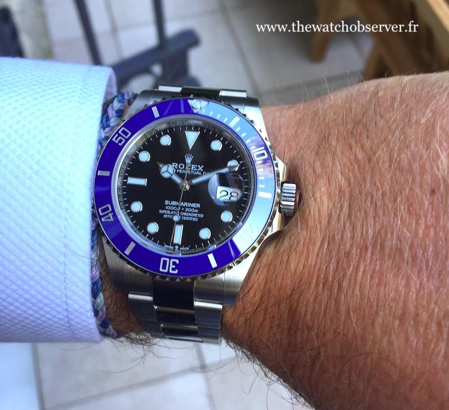 On the wrist: Rolex Submariner Date 41 blue ceramic bezel