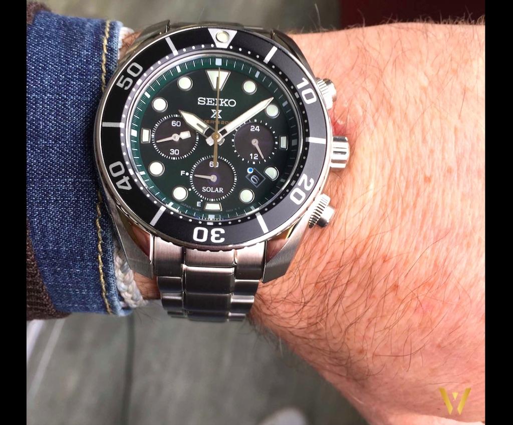 Seiko SSC807 Iriomote on the wrist