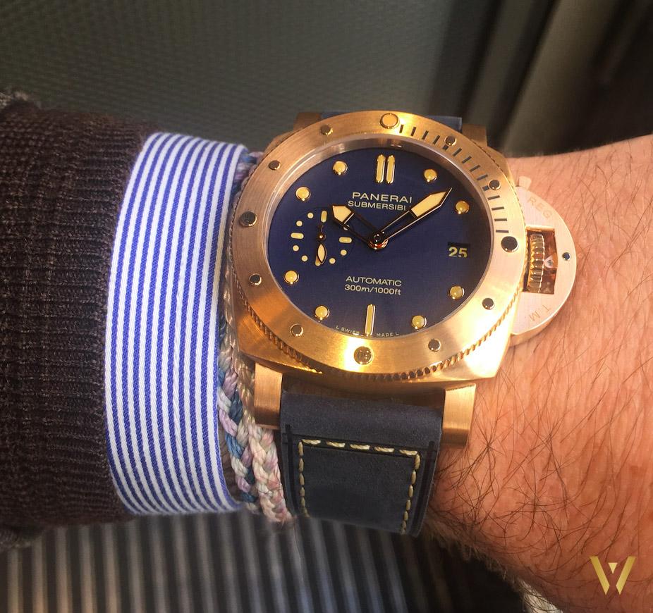 Around the wrist: the new Panerai Bronzo PAM01074