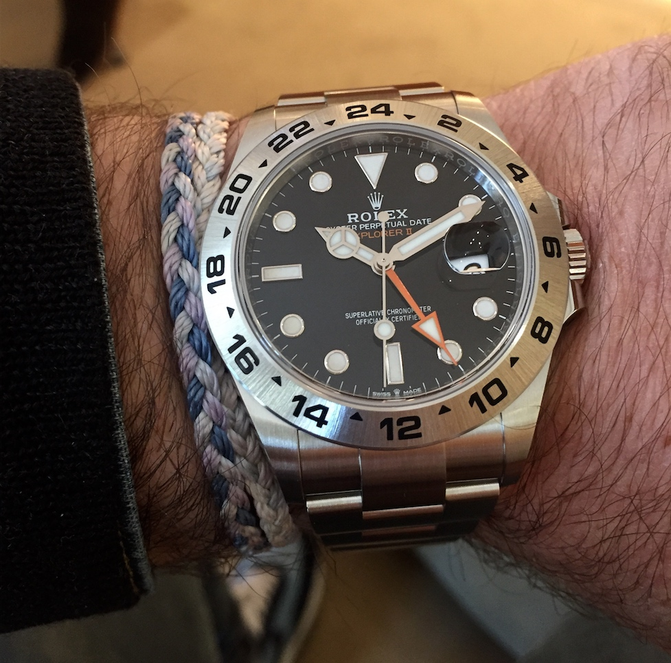 the new Rolex Explorer II ref. 226570 around the wrist