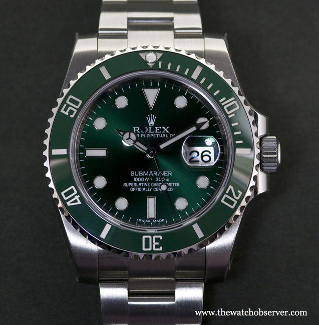 A green dial - Rolex Submariner Date Hulk 116610LV