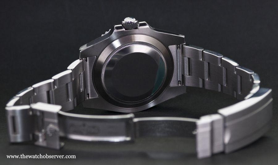 Photo of the caseback - Rolex Submariner Date Hulk 116610LV