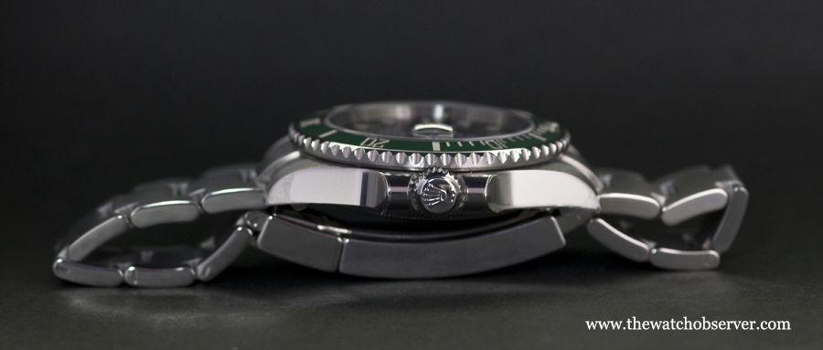 Profile of the Rolex Submariner Date Hulk 116610LV