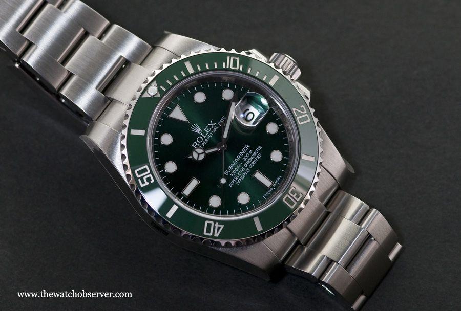 Rolex Submariner Date 116610LV Hulk - Live photos