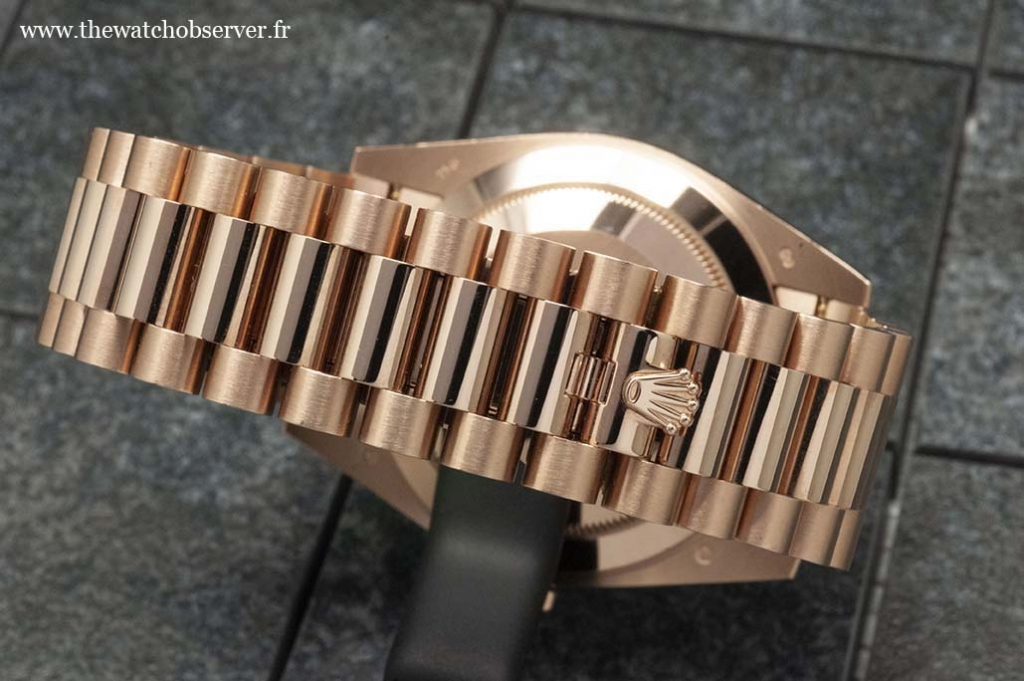 Close-up on the Rolex President bracelet - Rolex Day-Date 40