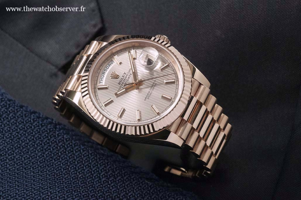 Lifestyle photo - Rolex Day-Date 40 Everose gold