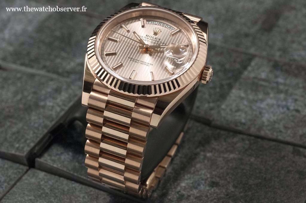 Rolex Day-Date 41 pink gold President bracelet