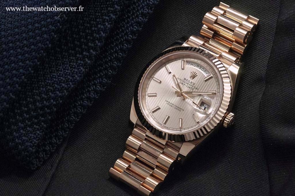 Swiss Made watch - Rolex Day-Date 40 gold Everose