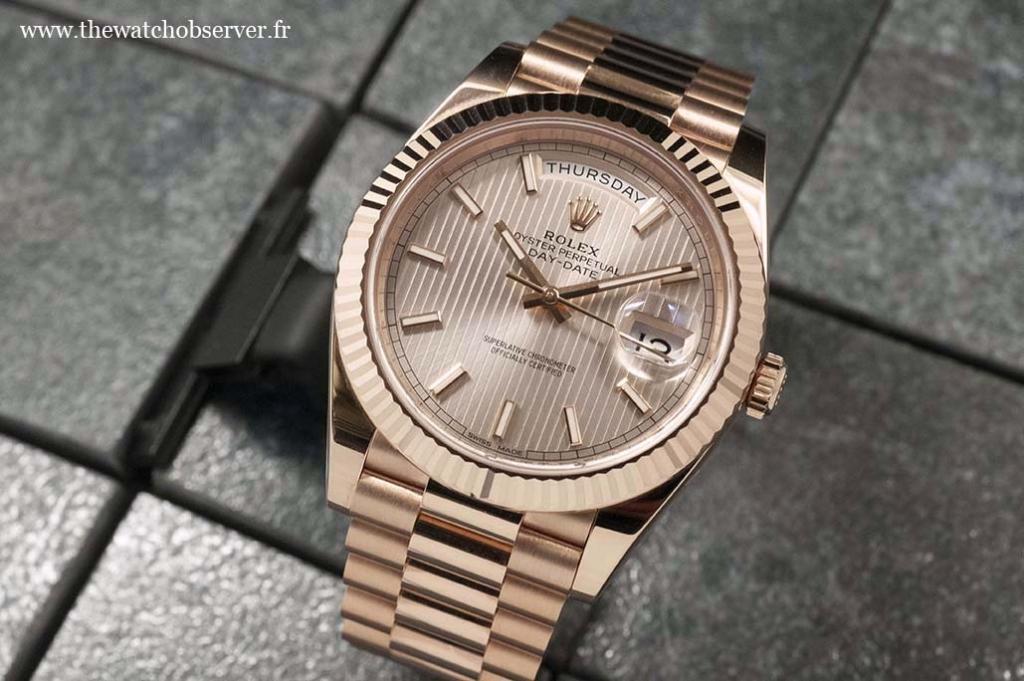Rolex Day-Date 40 Everose gold version ref. 228235
