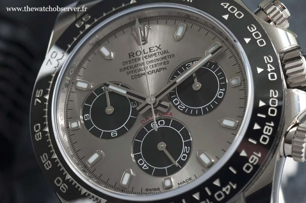 Photo of the Panda dial - Rolex Daytona 116519LN