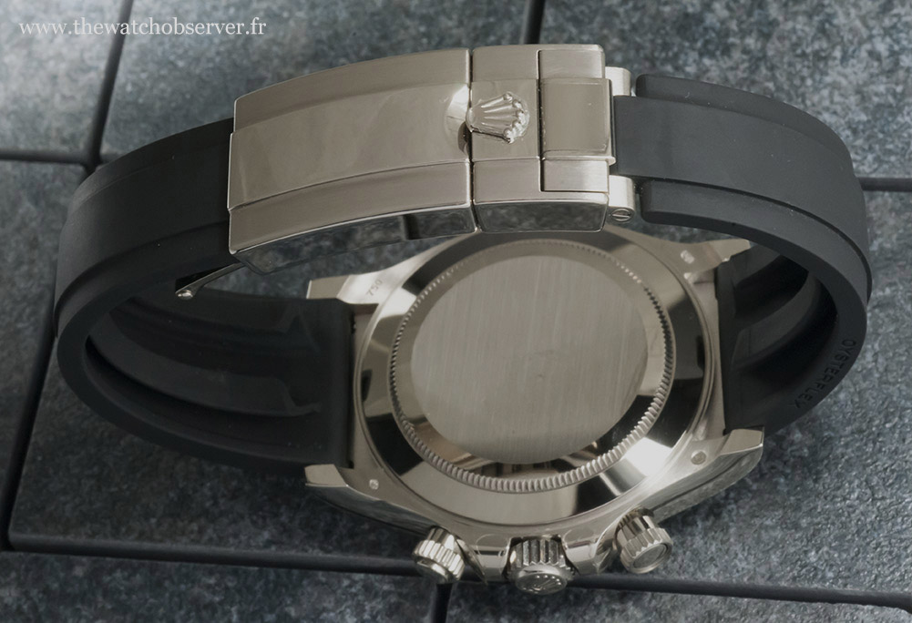 Oysterflex strap and white gold buckle - Rolex Daytona 116519LN