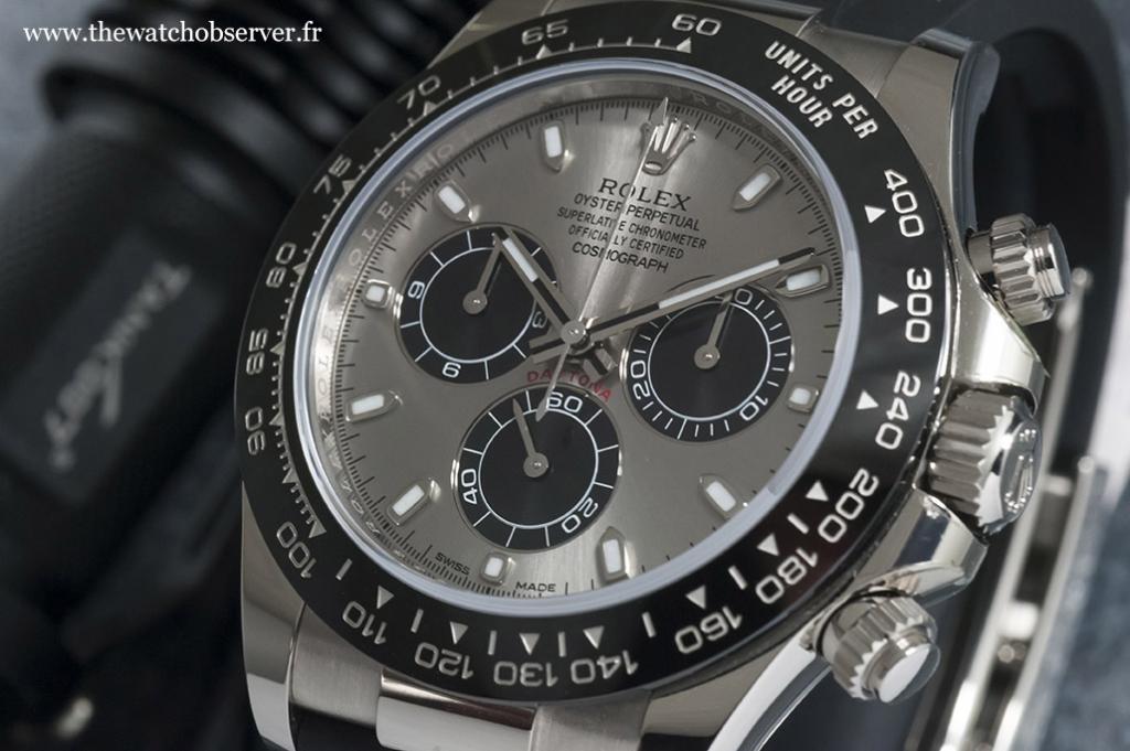 Black Cerachrom bezel - Rolex Daytona 116519LN