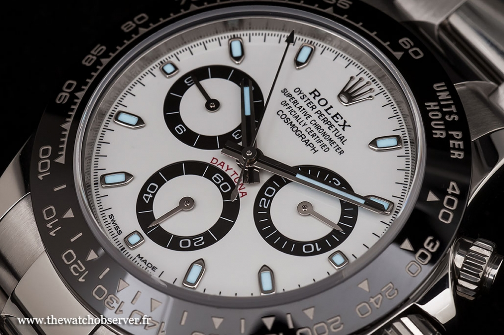 Discover the white dial of the Rolex Daytona 116500LN