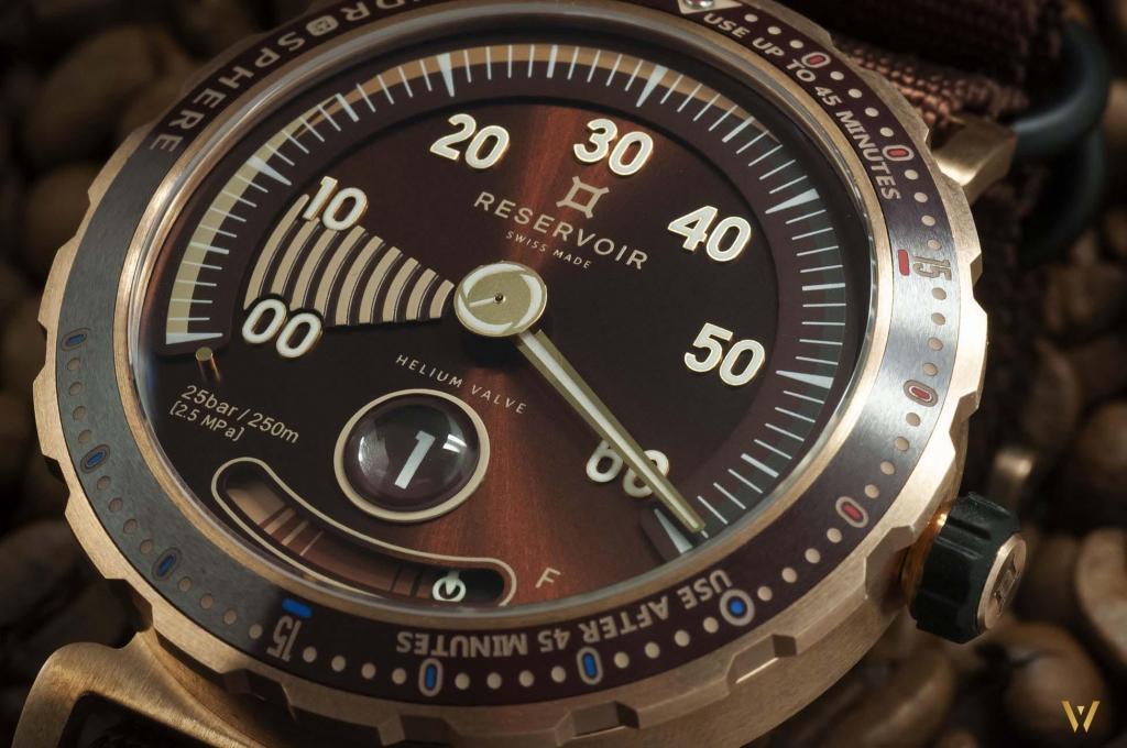 Dive watch Swiss Made - RESERVOIR Hydrosphere Bronze Maldives Edition