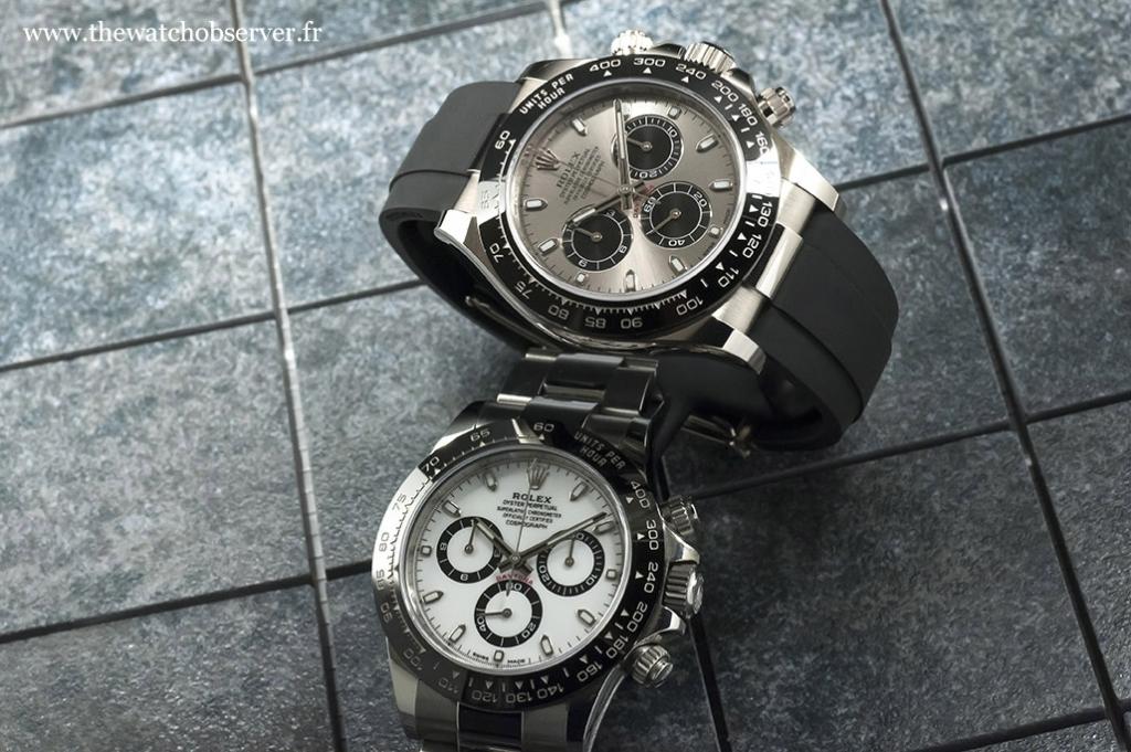 2 Rolex Daytona: steel or white gold?