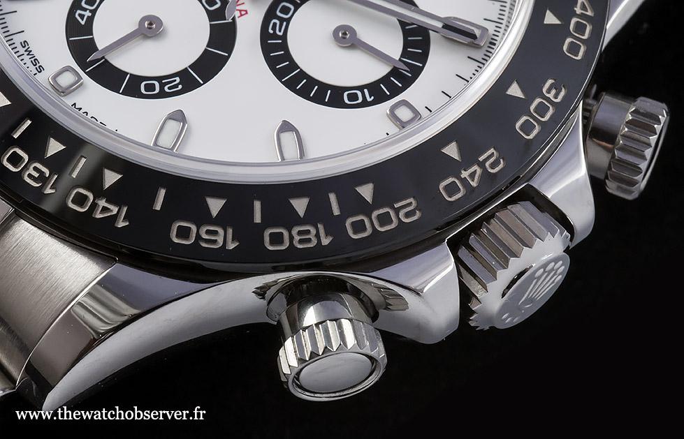 Detail - pushers of the Rolex Daytona 116500LN