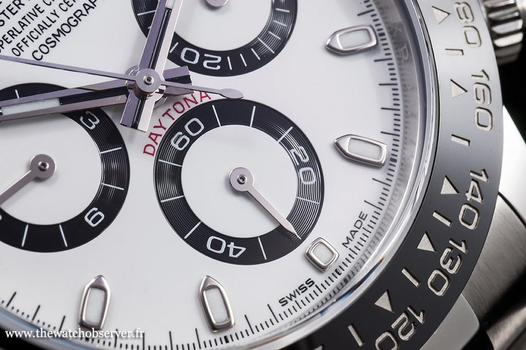 Detail #1 - dial of the Rolex Daytona 116500LN