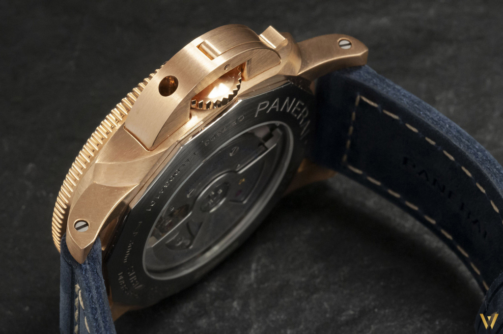 A 42mm case for the new Panerai PAM 1074 Bronzo