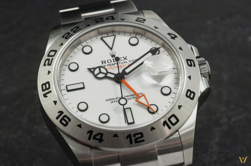Brushed steel case Rolex Explorer II ref. 226570 Polar dial